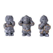 See hear speak no evil Knights set of 3 figurines - $23.75