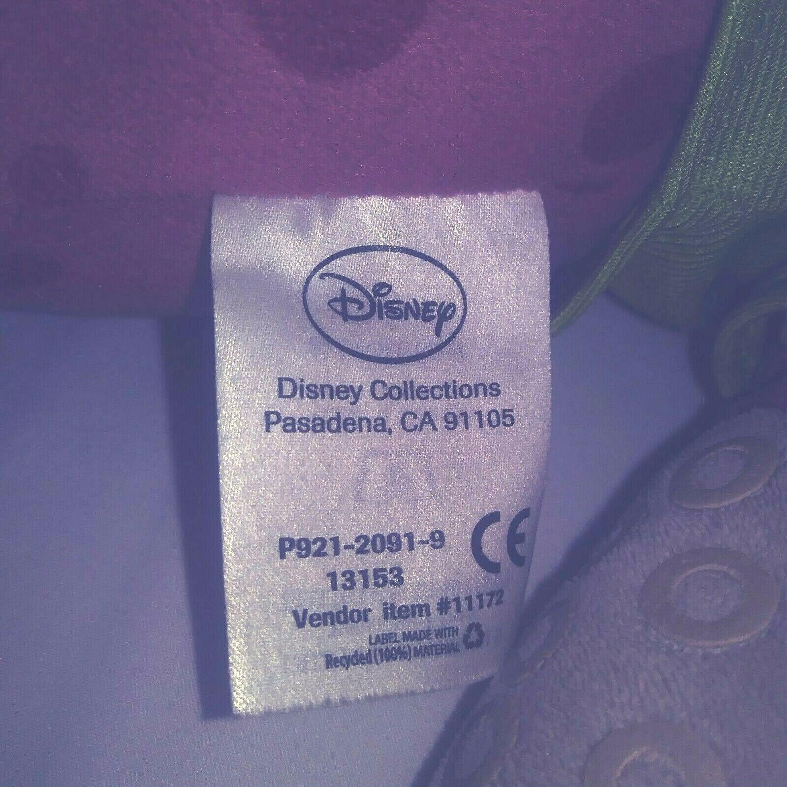 "Disney Pixar Don Carlton Plush Walrus Monsters University Green Boss Shirt 12"""
