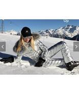 Winter Jumpsuit Women Men Playsuit Silver Snowsuit Outwear Outfit Sport ... - $249.00