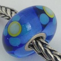 Authentic Trollbeads Ooak Murano Glass Unique Bead Charm #148, 13mm Diameter New - $33.24