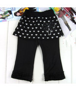 Toddler Girls Sweet Style Heart Printed Pant Skirt Brand New - $5.50