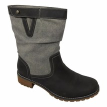 Timberland Women's Wenham Leather & Fabric Dark Gray Mid Boots Style A1B94 - $1.384,12 MXN