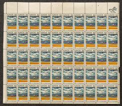 Illinois 1818 - 1968, Sheet of 6 cent stamps, 5... - $7.50