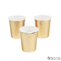 Metallic Gold Foil Paper Cups - $11.35