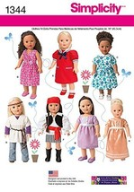Simplicity Creative Patterns 1344 18-Inch Doll Clothes and Costumes Sewing Patte - $13.48