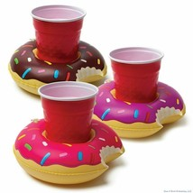 Inflatable Pool Party Beverage Boats Set Of 3 BRAND NEW Glazed Donuts