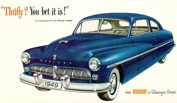 Primary image for 1949 Mercury 6-Passenger Coupe - Promotional Advertising Poster