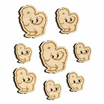 Fluffy Silkie Chicken Wood Buttons for Sewing Knitting Crochet DIY Craft - Vario - $9.99