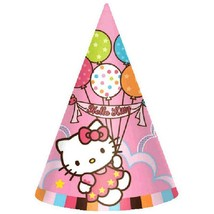 Hello Kitty Balloon Dreams Cone Hats Birthday Party Favor Supplies 8 Per Package - $4.90