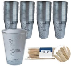 100x 10-ounce Disposable Graduated Clear Plastic Cups for Mixing Paint,...  - $40.98