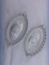 2 HEISEY GLASS DISHES   H IN DIAMOND MARK   NICE - $14.80