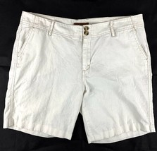 LEE Jeans Junior Size 15/16 Walking Casual Shorts Beige Linen Blend EC - $15.67