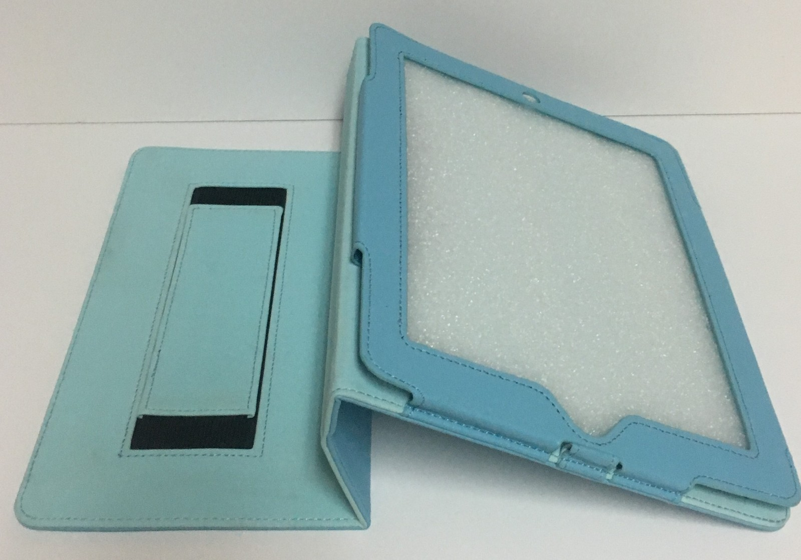 """Tablet Reader iPad Protection Case Baby Blue 9"""" x 6"""" Screen Faux Leather"""
