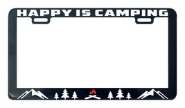 Happiness is camping Adventure Awaits license plate frame holder tag - $5.99