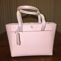 NWT Tory Burch Robinson Small Tote In Pale Apricot - $233.39
