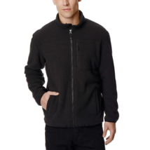 32 Degrees Heat Men Sherpa Lined Fleece Full Zip Jacket, Black, Size XXL - $24.74