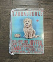 """16"""" LABRADOODLE Dog pup Traits 3d cutout retro USA STEEL plate display ad Sign - $58.75"""