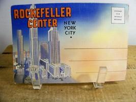 Souvenir Postcard Folder of Rockefeller Center New York City Vintage - $4.99