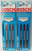 """Bosch T123X3 4"""" Progressor T-Shank Jig Saw Blades 2-3 PKS - $5.94"""
