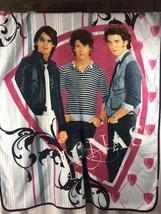 Disney JONAS Jonas Plush Throw Blanket 2009 Boy Band 2000s Music Retro - $9.49