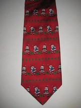 "Original Red Santa Clause Tie Necktie 4"" Hallmark 209 - $14.77"