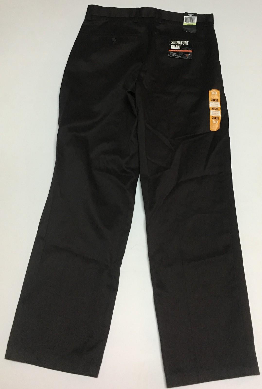 Dockers Signature Khaki Pants Men's 30 x 30 Dark Chocolate NWT Wrinkle Free