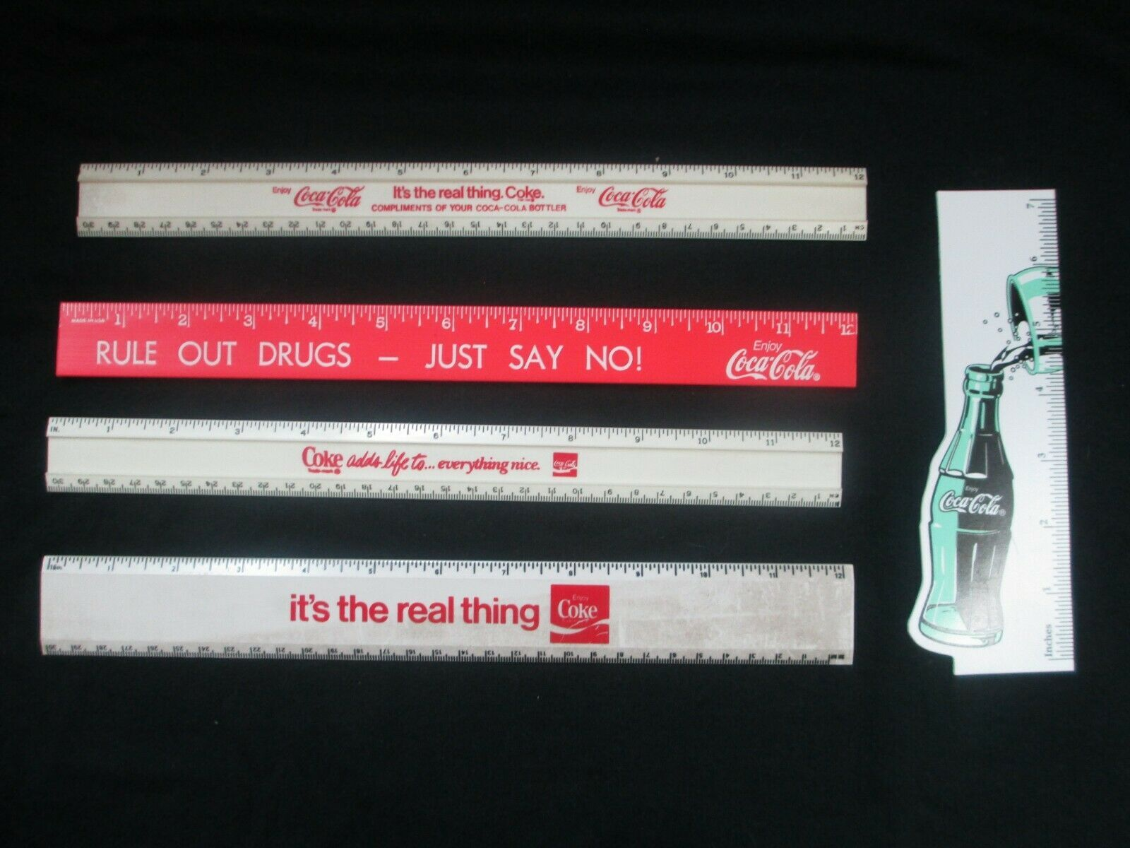 Primary image for Coca-Cola Set of 5 Rulers New Old Stock