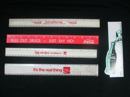 Coca-Cola Set of 5 Rulers New Old Stock - $18.32