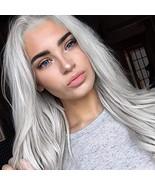 Jingfa Silver Platinum Blonde Lace Front Wigs for Women Long Natural Str... - $41.02