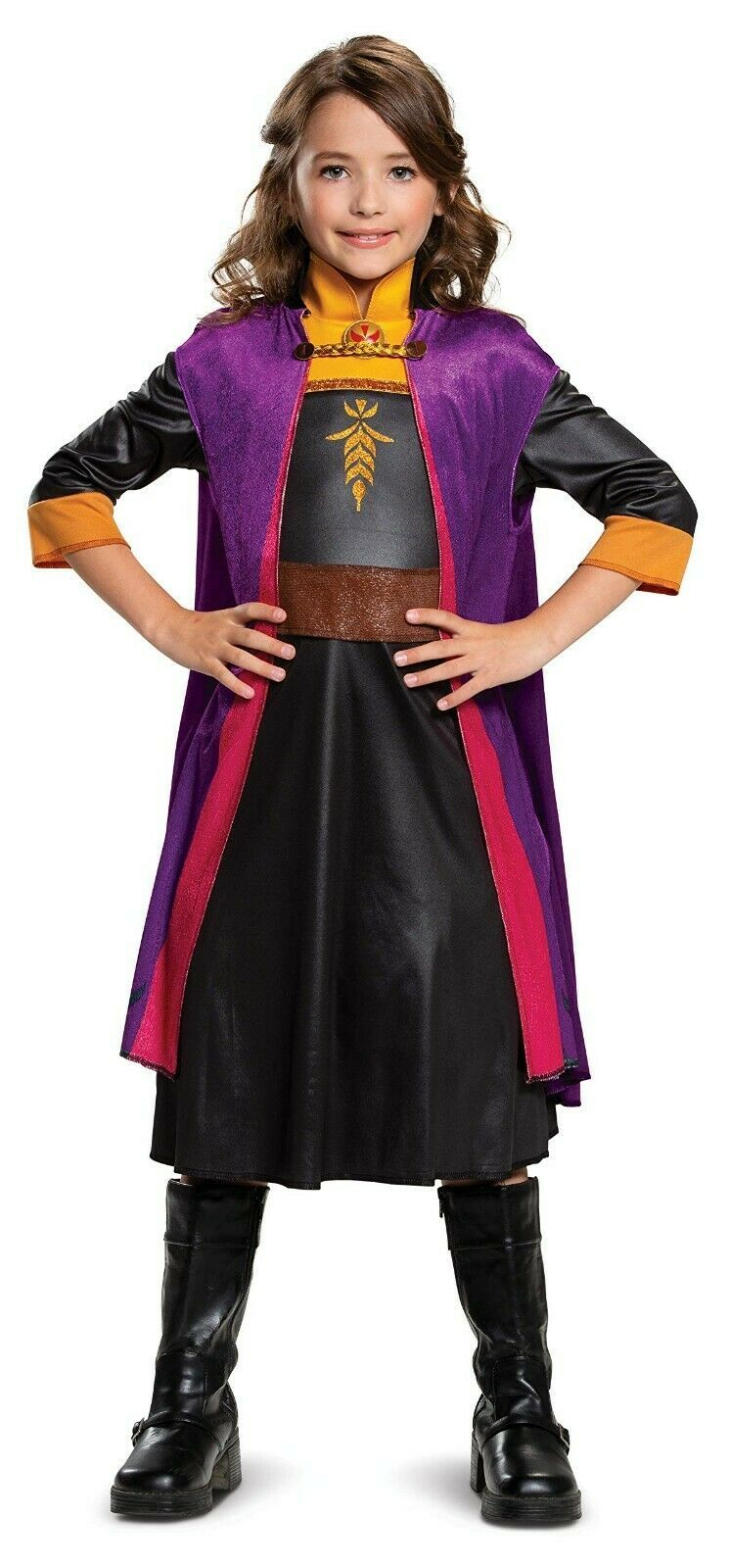 Disguise Frozen II Anna Deluxe Bambino Costume Halloween XS / EP / Tp (3T-4T)