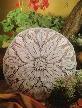 4X Butterfly Table Skirt Mat Pillows Dogwood Pillow Filet Crochet Patterns image 4