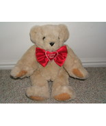"""VERMONT TEDDY BUTTERCREAM """"I LOVE YOU"""" POSABLE PLUSH BE - $12.00"""