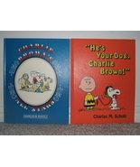2 VINTAGE 1972 CHARLIE BROWN & SNOOPY LARGE HC BOOKS  - $7.00