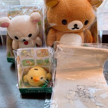 Rilakkuma And Kaoru Exhibition Fuwamofu Plush Doll 3 purse Set Limited E... - $299.00