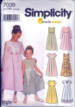 Uncut Size 3 4 5 6 Wrights Special Occasion Dress Jumper Simplicity 7039... - $6.99