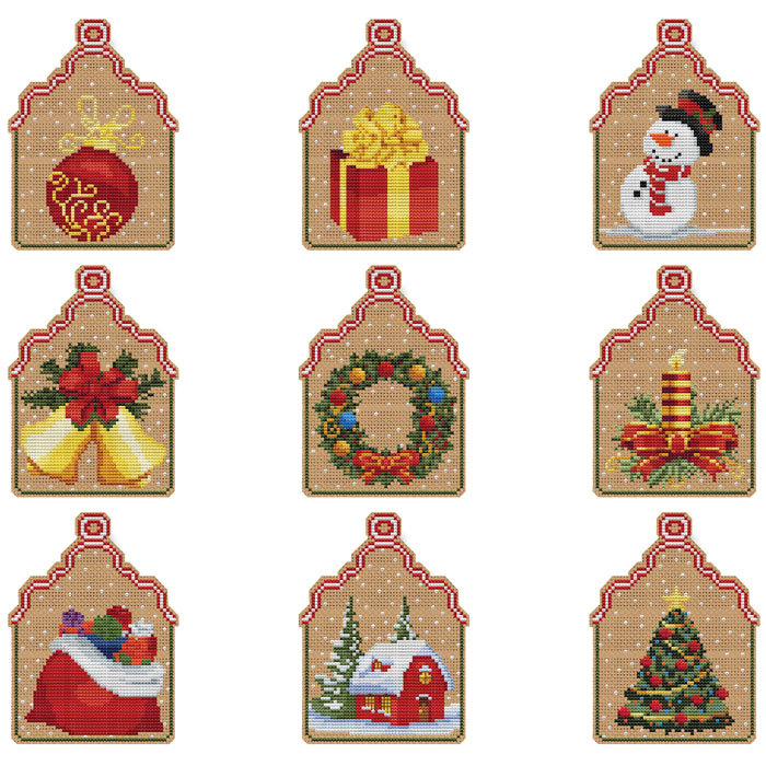 Christmas Candle Ornament Kit cross stitch Colonial Needle