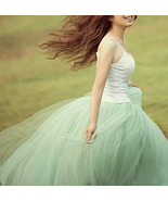 Modern Romantic Princess. Mint Green Mesh Tulle Full Skirt. Color Choice  - $63.00