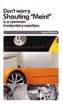 2007 Volkswagen SPECIAL EDITIONS brochure catalog folder Fahrenheit Wolf... - $9.00