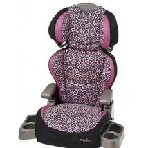 Evenflo Leopard Print Toddler Girl Car Booster Seat Travel Safety Big Kid Adjust - $98.51