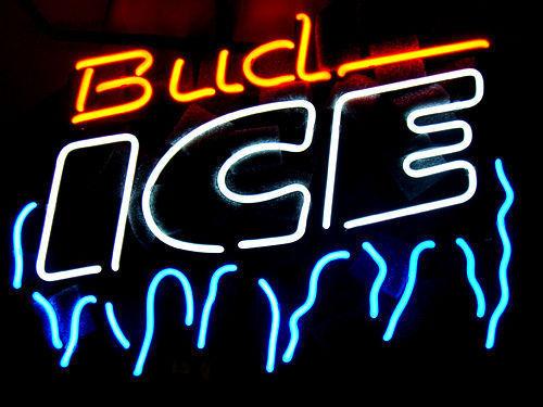 "Bud Ice Frost Neon Light Sign 16\"" x 14\"" - Neon"