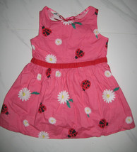 H&M ADORABLE Pink Red Lady Bug Floral Dress Siz... - $10.00