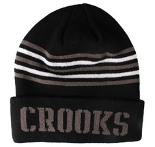 Crooks and Castles Mens Core Striped Knit Beanie NWT image 2