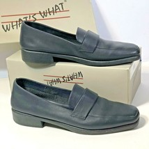 What's What By Aerosoles Womens Size 9 AA Shoes Flats LYN SOFTY Leather Navy  - $24.74
