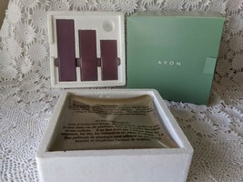 Avon Candles Rites of Spring 3 Lilac Pillar Candles With Base - $14.54