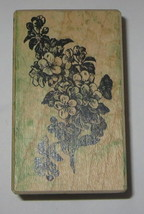 Dogwood Flowers Stampa Barbara Rubber Stamp Leaves Branch Wood Mounted Stem - $7.42