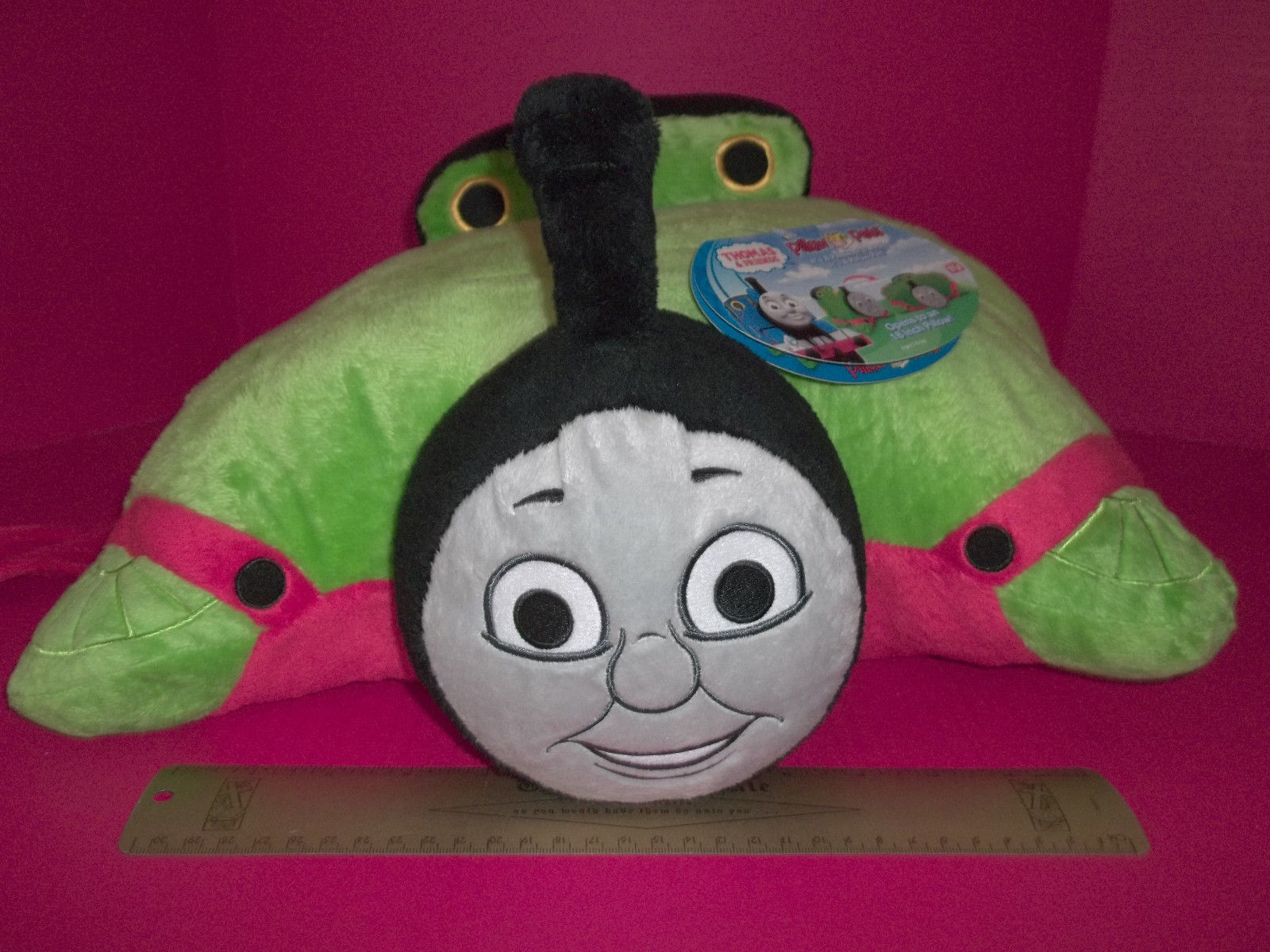THOMAS & FRIENDS Plush Toy 18 Inch Percy Small Engine Pillow Pets Train Cushion