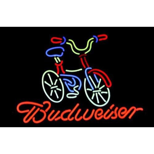 "Primary image for Bicycle Fat Tire Budweiser Neon Light Sign 16"" x 14"""