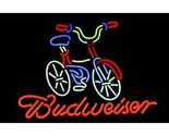 Me245 budweiser bicycle fat tire beer bar neon light sign 16   x 15   free shipping worldwide thumb155 crop