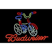 "Bicycle Fat Tire Budweiser Neon Light Sign 16"" x 14"" - $499.00"