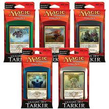 Magic the Gathering Khans of Takir set of 5 Intro Decks NEW SEALED - $74.00